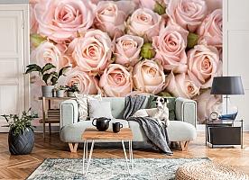 3D Фотообои «Кремовые розы» вид 8