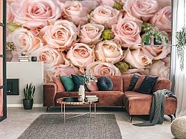 3D Фотообои «Кремовые розы»