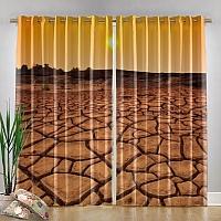 Фотошторы «Засушливая пустыня» вид 4