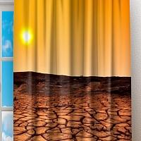 Фотошторы «Засушливая пустыня» вид 2