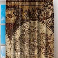 Фотошторы «Карта мира» вид 2