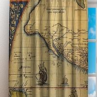 Фотошторы «Старая карта Америки» вид 3
