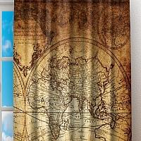 Фотошторы «Старинная карта мира» вид 2
