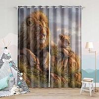 Фотошторы «Величественные львы» вид 7