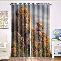 Фотошторы «Величественные львы» вид 4