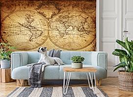 3D Фотообои «Старинная карта мира» вид 2