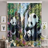 Фотошторы «Семейство панд» вид 8