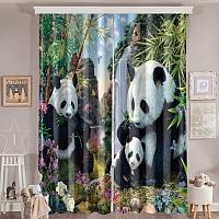 Фотошторы «Семейство панд» вид 6