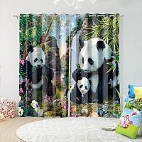 Фотошторы «Семейство панд» вид 5
