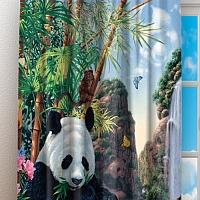 Фотошторы «Семейство панд» вид 3