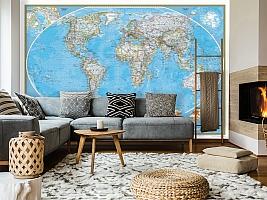 3D Фотообои  «Политическая карта мира»