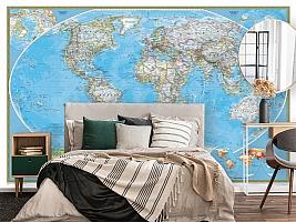 3D Фотообои  «Политическая карта мира»  вид 4