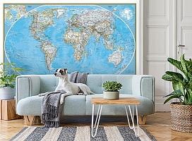3D Фотообои  «Политическая карта мира»  вид 2