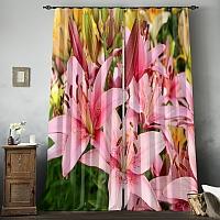Фотошторы «Нежно-розовые лилии» вид 8