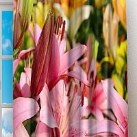 Фотошторы «Нежно-розовые лилии» вид 2