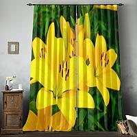 Фотошторы «Яркие желтые лилии » вид 8