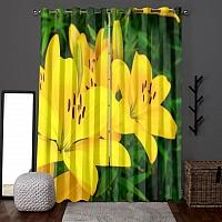 Фотошторы «Яркие желтые лилии » вид 6