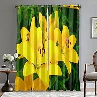 Фотошторы «Яркие желтые лилии » вид 5