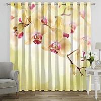 Фотошторы «Желтая орхидея» вид 7