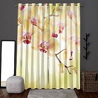 Фотошторы «Желтая орхидея» вид 6