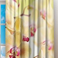 Фотошторы «Желтая орхидея» вид 2