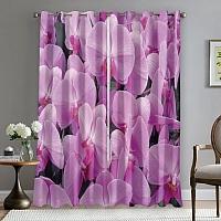 Фотошторы «Ковер из розовых орхидей» вид 5