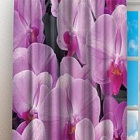 Фотошторы «Ковер из розовых орхидей» вид 3