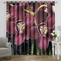 Фотошторы «Орхидеи и капли воды» вид 7