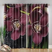 Фотошторы «Орхидеи и капли воды» вид 4