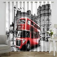 Фотошторы «Красный автобус» вид 7