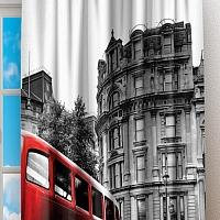 Фотошторы «Красный автобус» вид 2