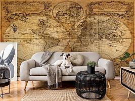 3D Фотообои  «Старая карта мира»  вид 6