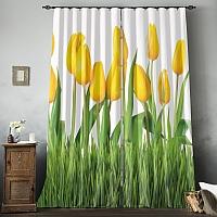 Фотошторы «Желтые тюльпаны» вид 8
