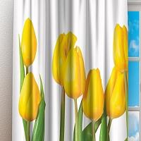 Фотошторы «Желтые тюльпаны» вид 3