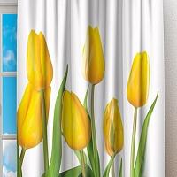 Фотошторы «Желтые тюльпаны» вид 2