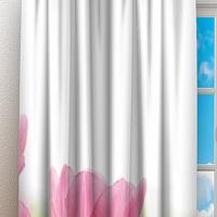 Фотошторы «Нежные розовые тюльпаны» вид 3