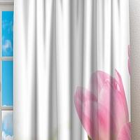 Фотошторы «Нежные розовые тюльпаны» вид 2