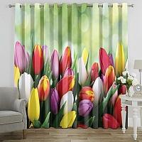 Фотошторы «Разноцветные тюльпаны» вид 7