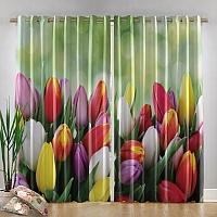 Фотошторы «Разноцветные тюльпаны» вид 4