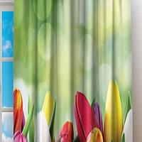 Фотошторы «Разноцветные тюльпаны» вид 2
