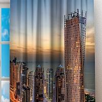Фотошторы «Ночной Дубай» вид 2