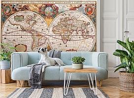 3D Фотообои  «Карта мира панно»  вид 2