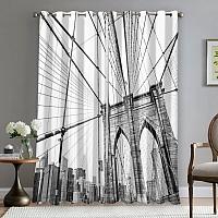 Фотошторы «Мост Нью-Йорка» вид 5