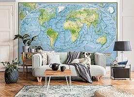 3D Фотообои  «Географическая карта мира»  вид 8