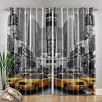 Фотошторы «Желтые такси» вид 4