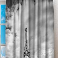 Фотошторы «Эйфелева башня у реки» вид 2
