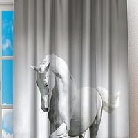 Фотошторы «Белый конь бегущий по воде» вид 2