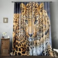 Фотошторы «Красивый леопард» вид 8