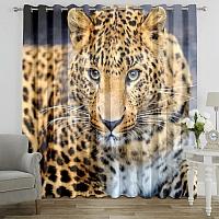 Фотошторы «Красивый леопард» вид 7