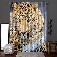 Фотошторы «Красивый леопард» вид 6